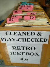 RETRO JUKEBOX you select 45 rpm vinyl HIT records CLEANED AND PLAYS VG+ or NM-.