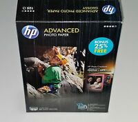 HP Advanced Photo Paper, Glossy, 4x6, 100 Sheets/Pack, GLOSSY w/ Extra 25 Sheets