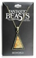 Fantastic Beasts and where to find them Necklace w/ Macusa pendant Bioworld NEW