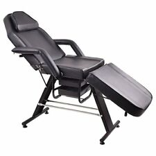 Adjustable Salon Spa Black Massage Bed Barber Tattoo Chair Facial Table Beauty