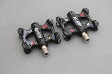 Carbon Fiber MTB Road Bike Pedals Bicycle Flat Platform Anti-Slip Gloss Black