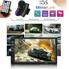 """7"""" Car Stereo Radio MP5 Player Double DIN Touch Screen Aux USB FM Radio Camera"""