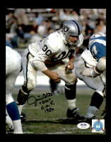 Jim Otto HOF 80 PSA DNA Coa Hand Signed 8x10 Autograph Photo
