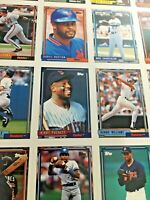 1992 Topps Baseball Uncut Sheet  Mattingly Biggio Pucket Mussina Nice Gift