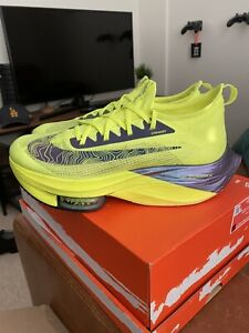 Nike Air Zoom Alphafly Next% Running Shoes Volt UK 9.5
