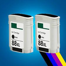 2 Black Ink Cartridges for HP 88XL Pro K5400 K5400DN K5400DTN K550 K550DTN
