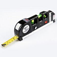 Multifunction Laser Level Aligner Horizon-Vertical Cross Line Measure Tape Ruler