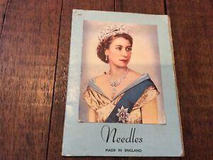 Vintage NEEDLE BOOK ROYAL - Queen Elizabeth - ENGLAND HTF