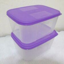 2 x Tupperware Freezer Mates Small II 650ml (Purple Lids)