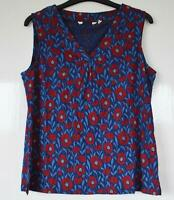 NEW EX SEASALT UK 8 - 26 ACHILLA FLORAL RED BLUE PRINT JERSEY TOP
