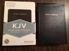 KJV Large Print Personal Size Bible Red Letter 1998 Black Leather Holman