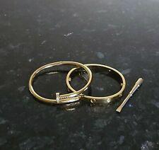Premium High Quality Bangle Love & Nail Bracelet Set with Screwdriver