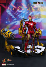 Hot Toys Iron Man 2 Mark 4 IV Figure Suit-up Gantry 1/6 Collectible Set MMS160