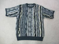 VINTAGE Regal Sweater Adult Large Black Brown McGregor Biggie Cosby Men 90s