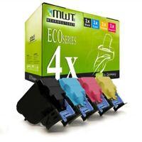 4x Eco Toner Per Konica Minolta Magicolor 4750-EN 4750-DN
