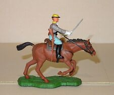 VINTAGE 1960'S BRITAINS EYES RIGHT SWOPPET ACW CONFED MOUNTED TROOPER - GREAT CO