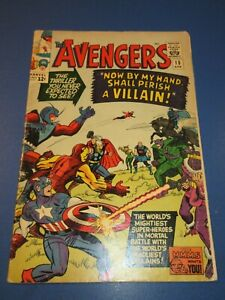 Avengers #15 Silver age Death of Baron Zemo Key Incomplete JP