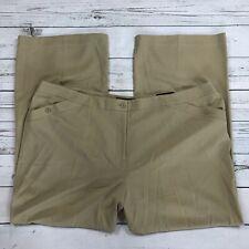 Lane Bryant Houston Trouser Dress Pants Size 26 Womens Wide Leg Tan Stretch 9810
