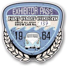 Retro Effetto Invecchiato Custom CAR SHOW ESPOSITORE PASS 1964 VINTAGE vinyl sticker decal