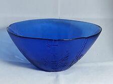 Beautiful Large Cobalt Blue Glass Bowl. Height: 10 cm Upper Diameter is 23.5 cm