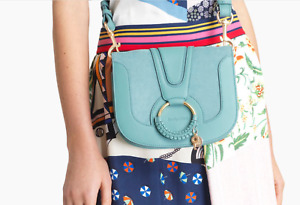 See By Chloe HANA Leather Satchel in Mineral Blue 2021 SUMMER NEW Color MSRP$475