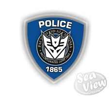 Barricade Transformers Police Transformer Car Van Stickers Decal Bumper Sticker