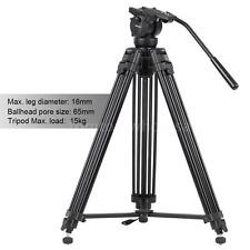 "Professional Heavy Duty 61""inch DV Video Camera Tripod Stand Fluid Pan Head Kit"
