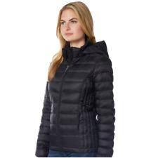 Women's HeatKeep Hooded Packable Puffer Down Jacket - Black - Size: M