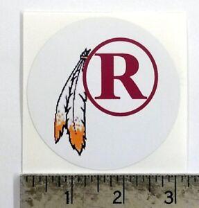 Vintage NFL Redskins feathr football logo sticker decal