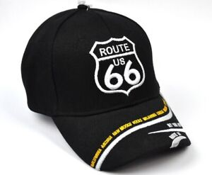 Route 66 USA Cap Baseball Cap Peaked Cap Black