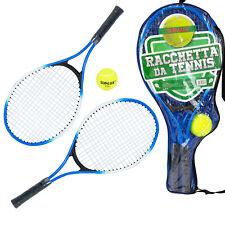 Set Rachetta Da Tennis Due Rachette Con Pallina Per Giocare Bambini Adulti