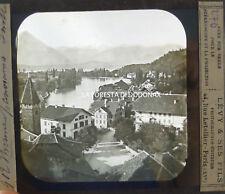 ANTICA FOTOGRAFIA FOTO 1890 THUN BERN SUISSE SWITZERLAND SVIZZERA