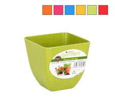 Set of 6 - 8.5x8.5cm garden home decor flower pot flowerpots 6 different colours