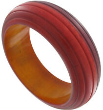 New Wooden Big Red Brown Wood Bangle Bracelet