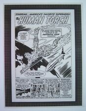 Original Production Art STRANGE TALES #101 splash, JACK KIRBY art, Human Torch