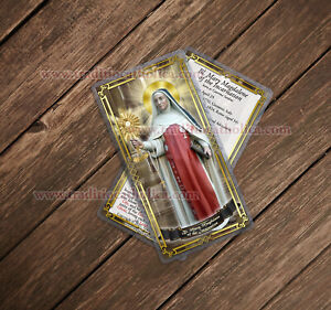 Blessed Mary Magdalene of the Incarnation, Italy laminated Holy Prayer cards