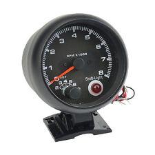 Universal 12V Car Auto Tacho Rev Counter Gauge Tachometer W/Red LED RPM Light UK