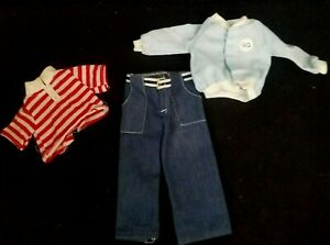 My Friend Fisher Price Doll Outfit Mikey Jeans Stripe Shirt Blue Baseball Jacket