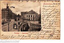 Amsterdam AK 1899 Aquarium plantation tram passants pays-BAS NEDERLAND 1506294