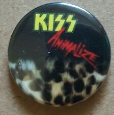 Kiss Animalize  Back Badge Gene Simmons Paul Stanley
