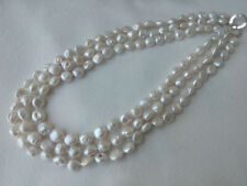 """20-21-22""""  3 strands reborn Keshi baroque freshwater pearl necklace USA BY EUB"""