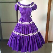 New listing 1950s Vintage Purple Peasant Dress 26W