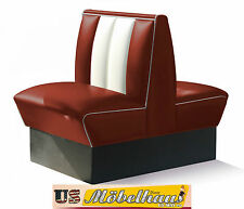 HW-70DB-Ruby American Dinerbank Sitzbank Diner Bänke Möbel USA Style Gastronomie