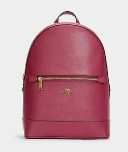 New Coach C5680 Kenley Backpack Crossgrain Leather Bright Violet