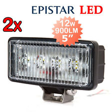"2x A&B 5"" 12W 4-LED WORK LIGHT BAR FLOOD BEAM WORK LAMP 9-32V 900LM"