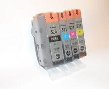 4x Original Druckerpatronen Canon Pixma IP3600 IP4600 MP540 MP550 MP560 MP640