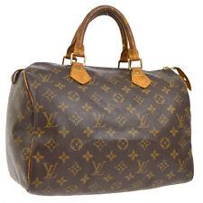 LOUIS VUITTON SPEEDY 30 HAND BAG MONOGRAM CANVAS LEATHER M41526 doi A46557c