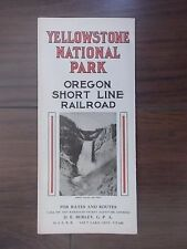 ANTIQUE 1909 U.S. RAILROAD TIME TABLE - YELLOWSTONE NATIONAL PARK SHORT LINE
