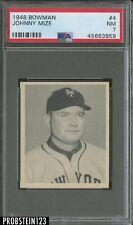 1948 Bowman #4 Johnny Mize New York Giants HOF PSA 7 NM