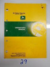 John Deere 42 Bale Ejector Operators Manual Part # Ome83029